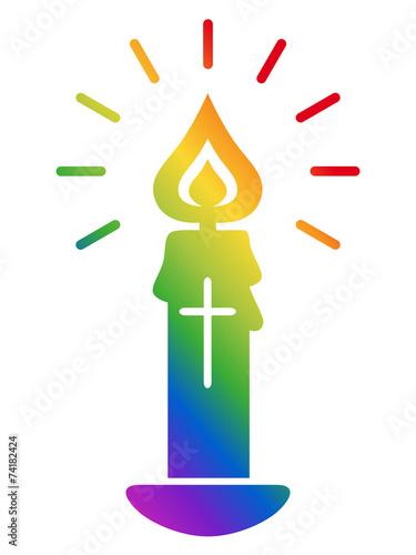 kerze kruzifix christlich symbol flamme regenbogenfarben stockfotos und lizenzfreie. Black Bedroom Furniture Sets. Home Design Ideas