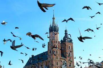 Autocollant pour porte Cracovie Krakow landmarks