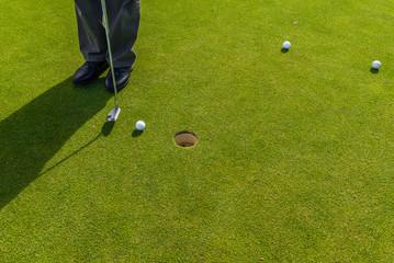 Golf Club, golf balls, golf course. South Africa, November 2014.