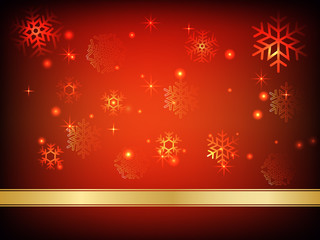 christmas background with baubles vector illustration