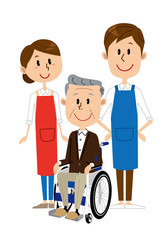 シニア 男性 車椅子 介護