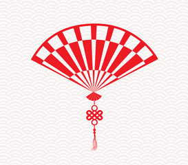 Chinese folding fan means