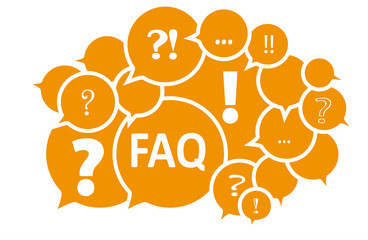 FAQ Frequently asked question Fragen