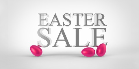 pink easter eggs sale concept