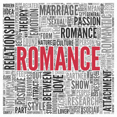 ROMANCE Concept Word Tag Cloud Design