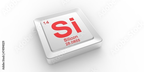 Si Symbol 14 For Silicon Chemical Element Of The Periodic Table