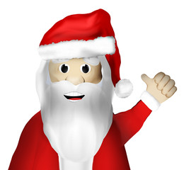 Christmas Santa Claus Thumbs Up