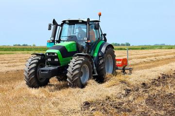 Tractor on the farmland