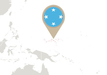 Micronesia on World map