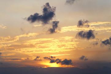 photo beautiful sunset