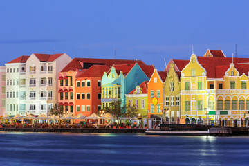 Willemstad at twilight. Curacao, Netherlands Antilles Wall mural