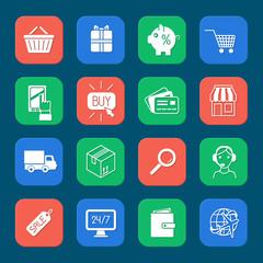 Shopping E-commerce Icons Set