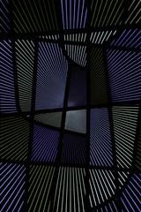 Strahlenförmiges Glasmosaik