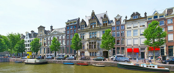 Poster Amsterdam The houses