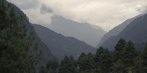 Cloud landscape, Sagarmatha National Park, Himalayas, Nepal