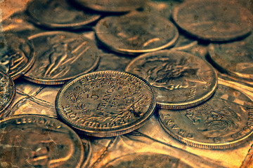 Old photo with old coins 1
