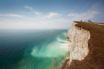 Cliff erosion at Seven Sisters cliffs in East Sussex, UK. Wall mural