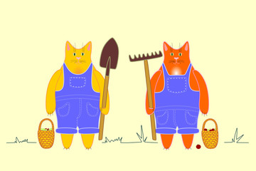 Farm workers cats
