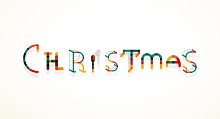 Christmas word concept, font