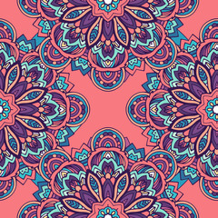 Tribal ethnic seamless pattern abstract background ornament illu