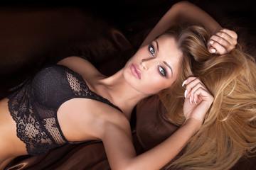 Portrait fo attractive blonde woman