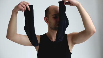 Image result for smelling socks