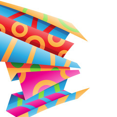 Colorful Folded Wrapping Paper Stock Illustration