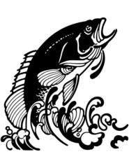 Stylized Jumping Fish