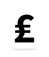 Pound sterling icon on white background.