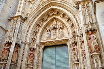 Puerta del Bautismo, Catedral de sevilla, España