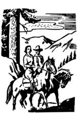 Couple Horseback Riding 2
