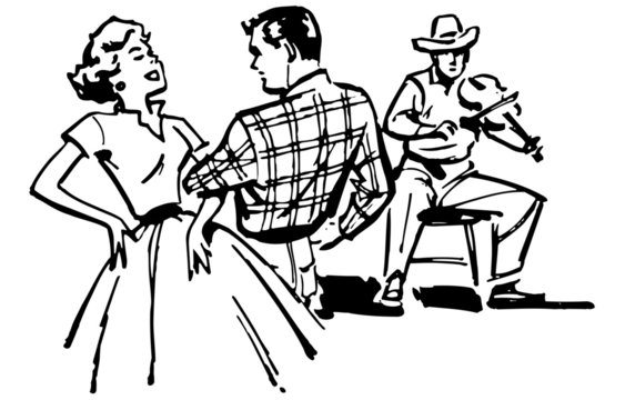 Couple Square Dancing