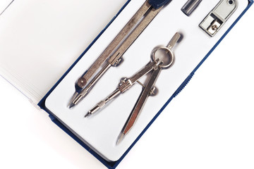 Pair of drawing compasses set