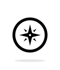Wind rose icon on white background.