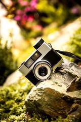 Old vintage film camera.