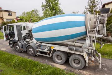 Heavy concrete truck