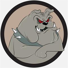 Bulldog, cartoon vector illustration