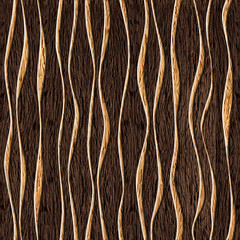 Seamless abstract wooden pattern, wave
