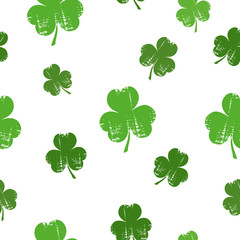St. Patrick's day background with clover.