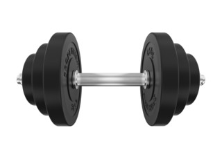 dumbbell on white background