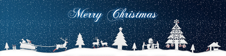 cb26 ChristmasBanner - snow - english with text - 4to1 - e2673