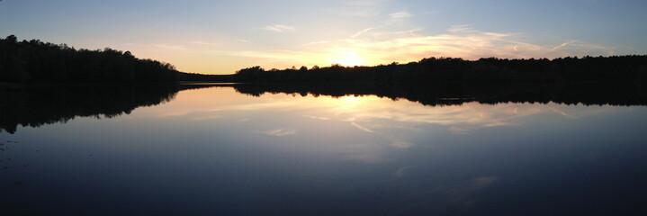 Sunset over Puskus Lake in Mississippi