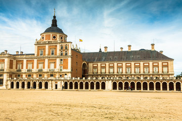 majestic palace of Aranjuez in Madrid, Spain