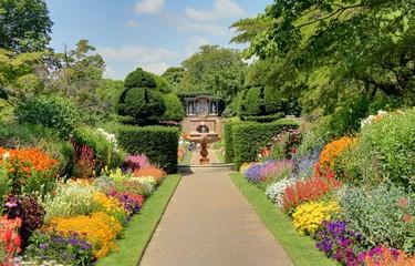 Printed roller blinds Garden jardin anglais
