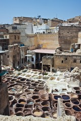 Tannery souk in Fez