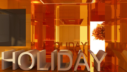 Holiday 3D text