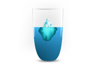 Iceberg in glass