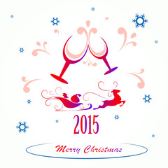 Christmas background,  vector illustration