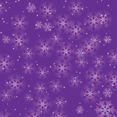 Christmas and New Year shimmering background with snowflakes