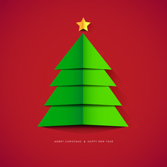 Modern abstract Christmas tree . Vector Illustration